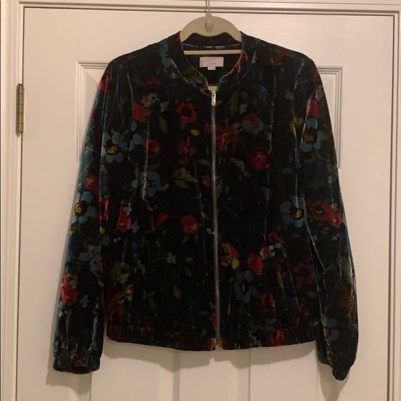 LOFT Jackets & Blazers - LOFT velvet bomber jacket. Size S. Like brand new!